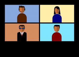 4 דמויות בזום במסך